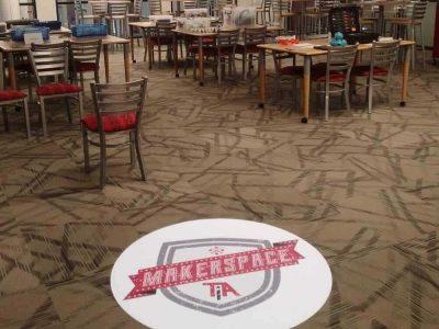Carpet Sticker at an event