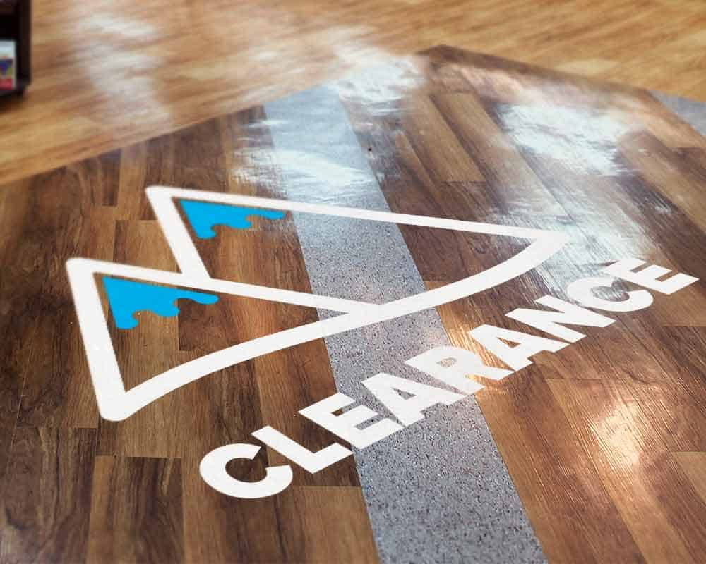 Cut Vinyl Floor Lettering Decal