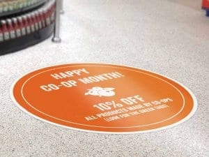 Custom Shape Circle Floor Sticker