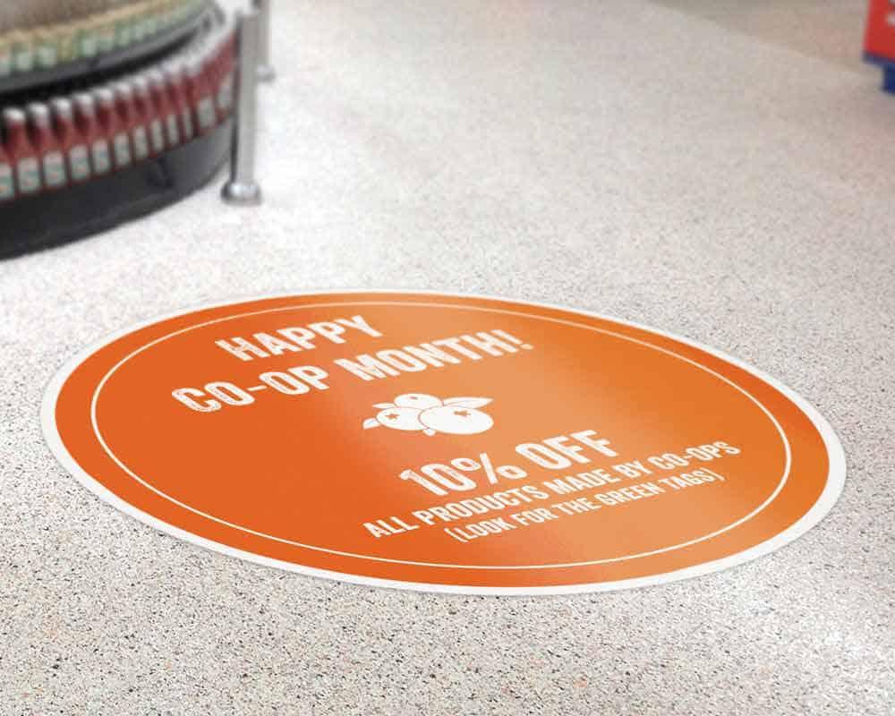 Custom Shape Circle Floor Sticker