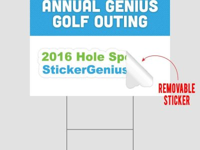 Golf Outing Sponsor Sign With Sticker