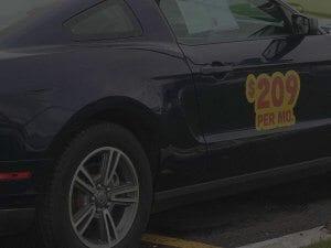 Muscle Car With Door Sticker
