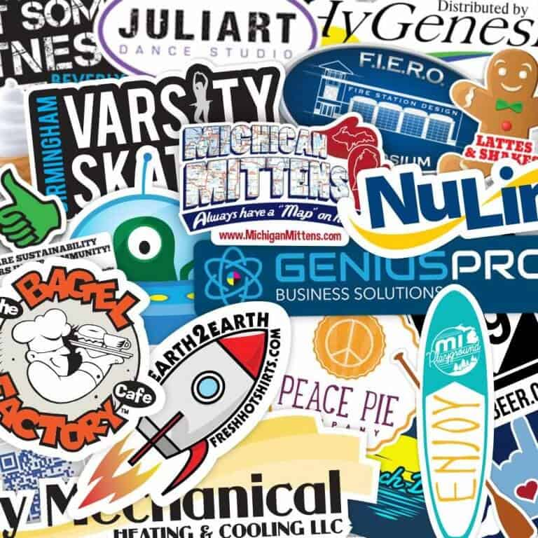 Custom Shape Cut Stickers