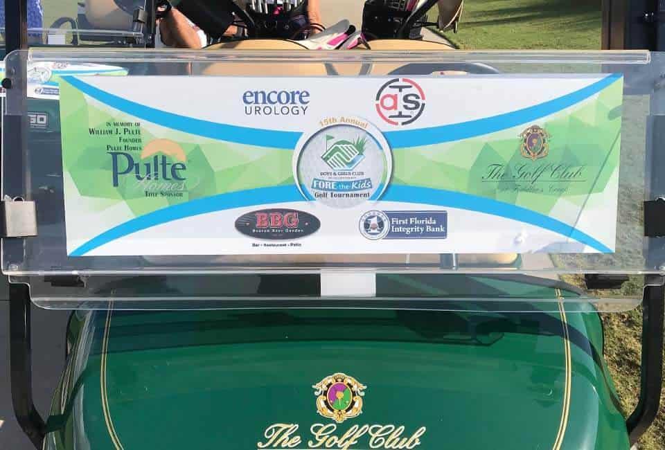Golf Cart Sponsor Decal