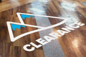 Cut Vinyl Floor Decal