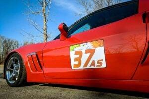Reusable Car Door Stickers
