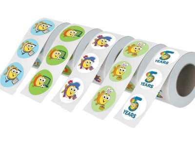Goldfish Roll Labels Multiple Styles
