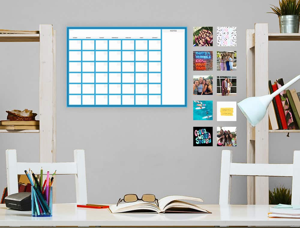 Dry Erase Sticker Bundle On Wall