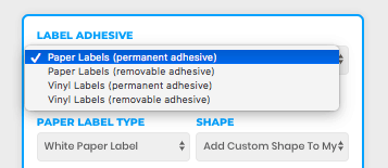 Label Sticker Types