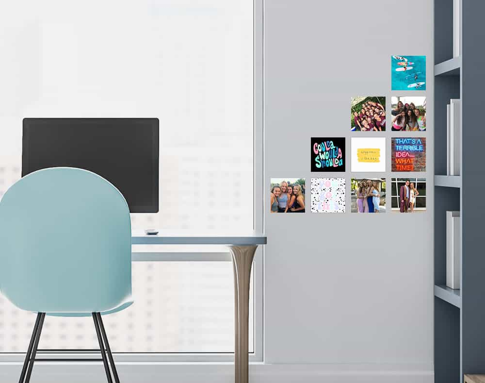Restickable Office Photo Stickers