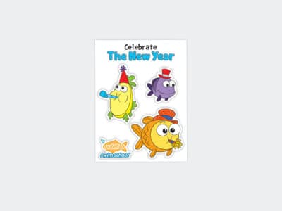 Goldfish Celebration Sheets Jan