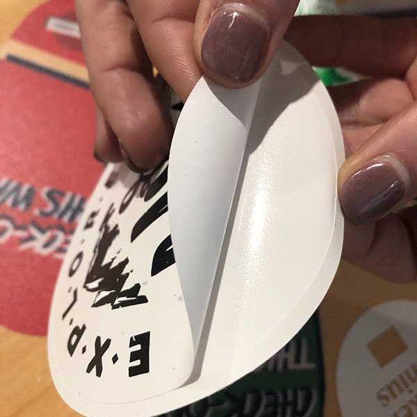 Bend and Peel Die Cut Sticker